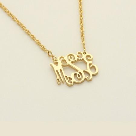 Monogrammed Gold Filigree