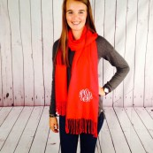 monogrammed cashmere scarf