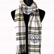 monogrammed cashmere scarfq