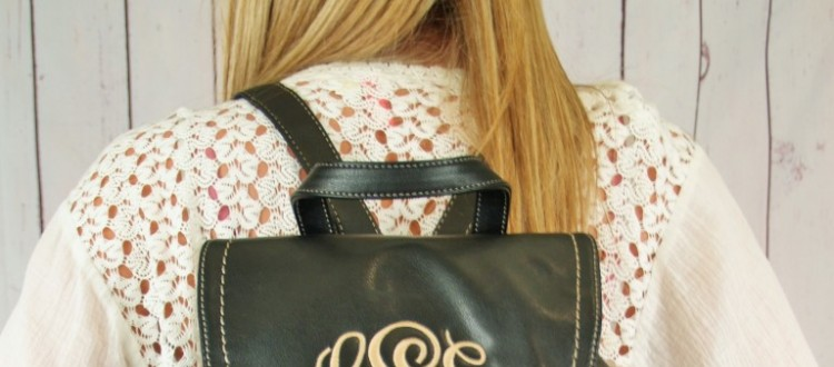 Monogrammed backpacks this year are not just for a school girl