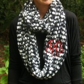 monogrammed kniw scarf