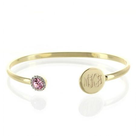 mpnogrammed birthstone bracelet