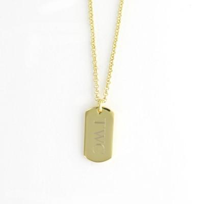 monogrammed dog tag pendant
