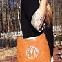 monogrammed bucket hobo purse.