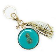 Key_Chain_with_Tassel_Teal_Pineapple_8164