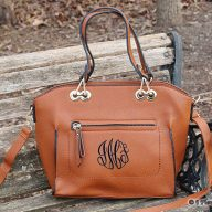 Monogrammed Tote Purse Caitlin Brown