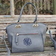 Monogrammed Purse Caitlin Grey