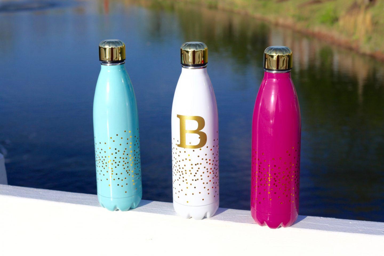 confetti stainless steel water bottle