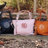 Belle Monogrammed Tote Bags with Golden Tassel