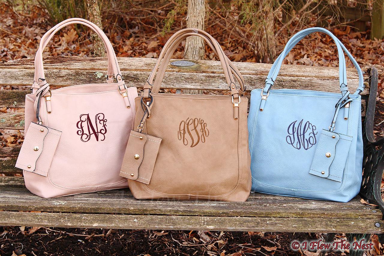 Kaylin Monogrammed Tote Handbag I