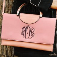 Mini Vanessa Monogrammed Brief Case Handbag - Pink